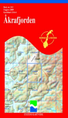 åkrafjorden kart Åkrafjorden (Kart, falset)   Turkart | Bestselgerklubben åkrafjorden kart