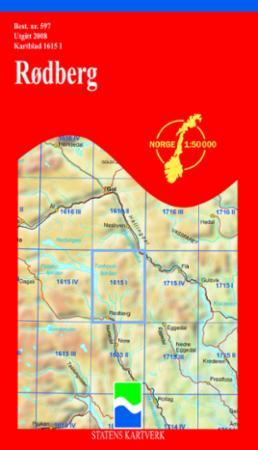 rødberg kart Rødberg (Kart, falset)   Turkart | Bestselgerklubben rødberg kart