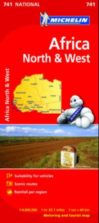 Afrika, north & west (Kart, falset)