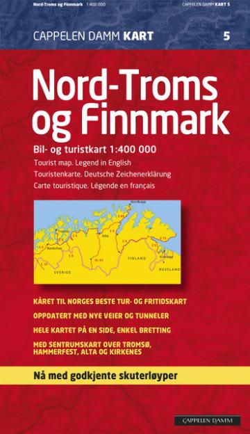 skuterløyper finnmark kart CK 5 Nord Troms og Finnmark 2013 f (Kart, falset)   Norge  skuterløyper finnmark kart