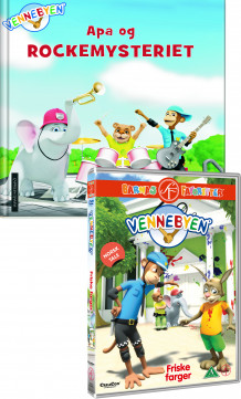 Apa og rockemysteriet og Vennebyen - Friske farger, DVD av  Creacon Entertainment AS (Pakke)